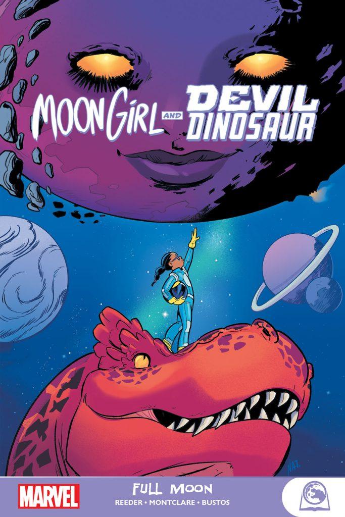 Cover to the trade paperback Moon Girl & Devil Dinosaur: Full Moon