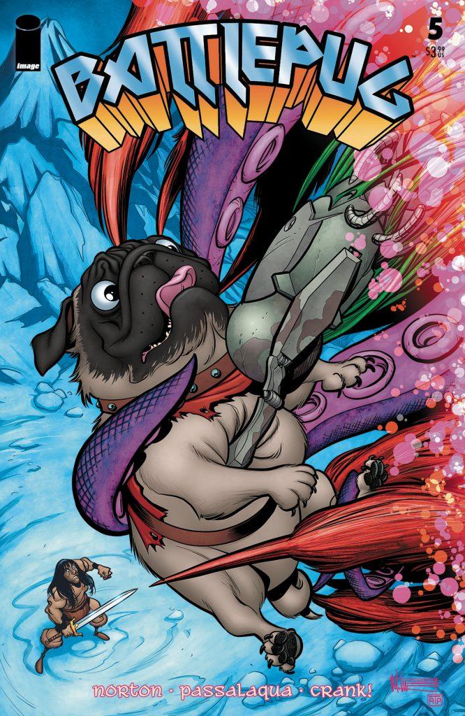Cover to the comic book Batt;epug #5