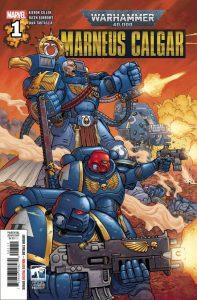 Cover to the comic book Marneus Calgar #1